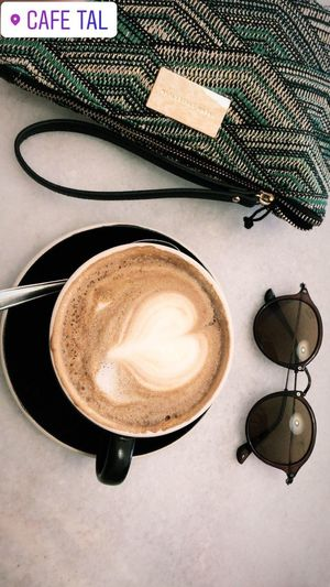Enjoy Style Original Experiences Pictureoftheday Coffee - Drink Coffee Cup Drink Still Life High Angle View Frothy Drink Indoors  Day Freshness Refreshment Food And Drink Table Latte Cappuccino Froth Art