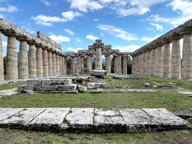 Basilica di Hera Paestum Architecture Archaeology Cultural Heritage Italy Basilica Ancient