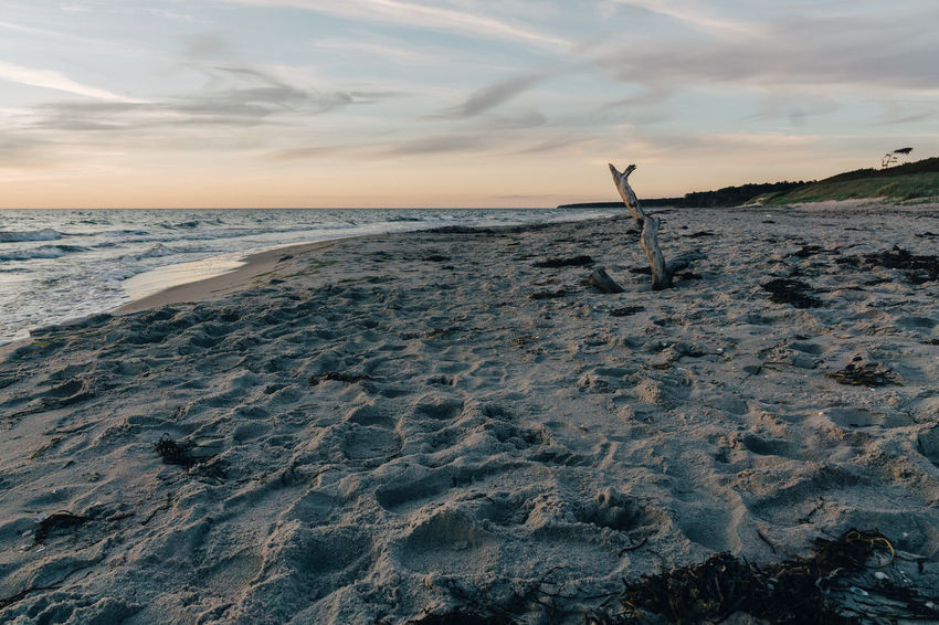 Baltic Sea Baltic Sea Winter Beach Beauty In Nature Cloud - Sky Day Horizon Over Water Nature No People Outdoors Sand Scenics Sea Sky Sunset Tranquil Scene Tranquility Water
