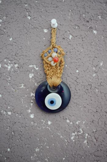 evil eye amulet Amulet Balkans Blue Eyes Close-up Day Evil Eye High Angle View No People Pendant Religion Turkish