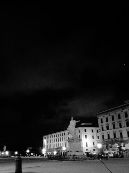 Enjoying Life Monument Leghorn Livorno Italy Nightphotography Night Night Lights Goodnight Sky Blue Sky Nightlife Enjoying Life Relaxing