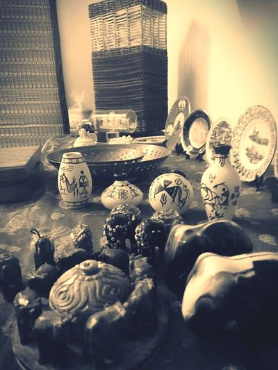 Random Photography No People Collectibles Assorted Decoratives Jute Lampshade Warli Art Pots Indoors  Home Decor!! EyeEmNewHere