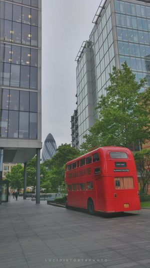 Skyscraper Car Transportation Bus Lucidistortephoto LONDON❤ London Love Red City Architecture No People Outdoors Day Modern