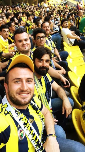 Fenerbahce  Friends People Football my friends are watching football match...