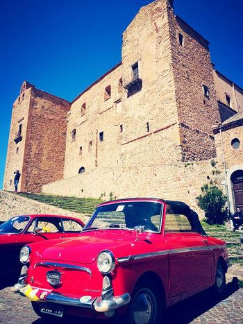 Old fashion Car Transportation Old-fashioned Architecture Raduno Auto Building Exterior Castle Castelbuono Vintage Car Collector's Car Vintage Vehicle Car Point Of View Mode Of Transport Land Vehicle Civilization Historic