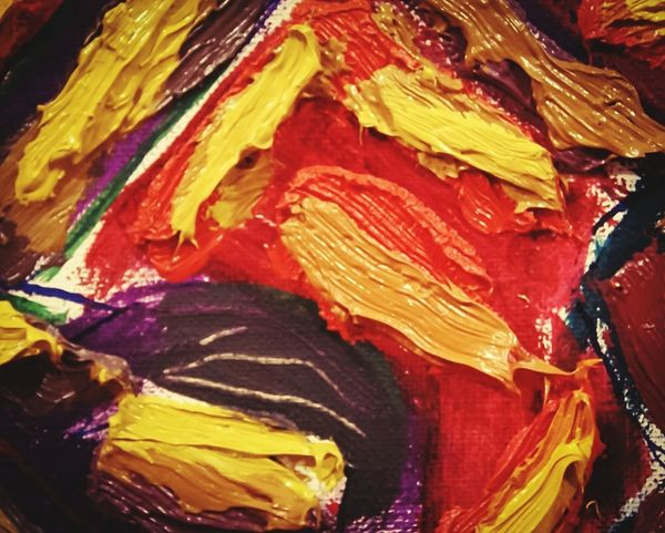 Art_L'hule Painted Image Multi Colored Backgrounds Full Frame Textured  Paint Palette Oil Paint Abstract Art And Craft