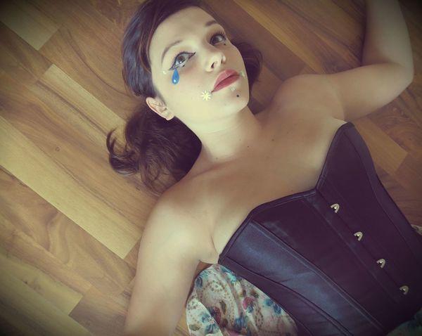 Corset Cry Baby Embers Corset Embers0ashes Photography Hardwood Floor Leisure Activity Lifestyles Melanie Martinez Portrait