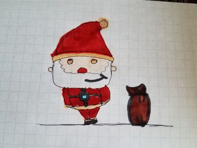 Santa Claus Christmas Time Christmas Market Drawing ✏ Coloring