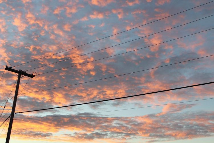 Cable Low Angle View Power Line  Power Supply Connection Electricity  Sky Cloud - Sky Sunset Silhouette Fuel And Power Generation Technology No People Nature Outdoors Electricity Pylon Telephone Line Beauty In Nature Day EyeEmNewHere