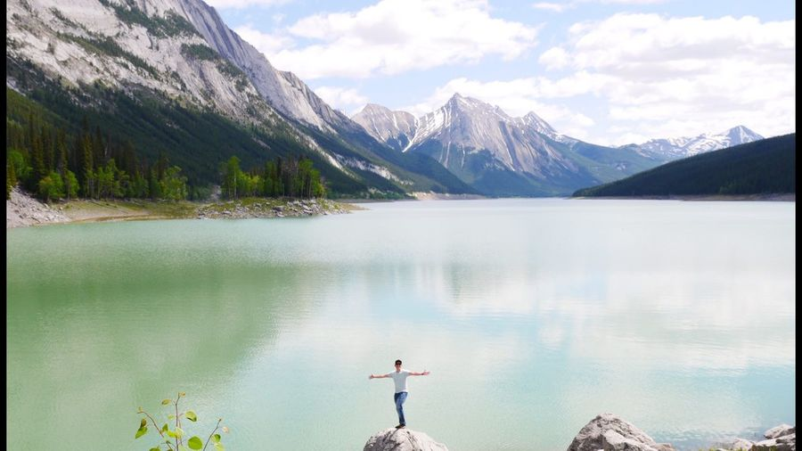 Hello World Its Me Hicking Beauty In Nature Landscape Mountain Range Nature Tranquil Scene Canada Lake View What A View What Do You Think?