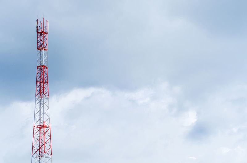 Architecture Broadcasting Built Structure Cloud - Sky Communication Connection Copy Space Day Global Communications Low Angle View Nature No People Outdoors Red Sky Tall - High Technology Tower Wireless Technology