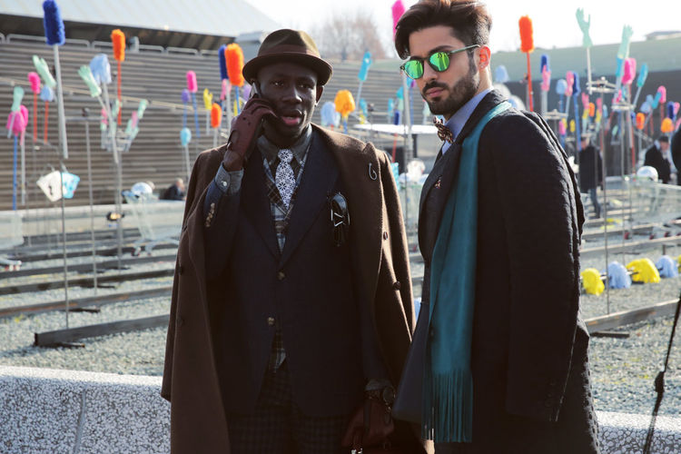 En-🇬🇧 The first day in Pitti Uomo 91 I worn this cool long coat by Andrew Mackenzie Thanks to @b_e_iiiiii for photos📷📷📷and my friend @ducdubois Follow my updates. 🇬🇧 _______________________________ It-🇮🇹 Il primo giorno al PittUomo 91 ho indossato questo bellissimo cappotto di Andrew Mackenzie Grazie a @b_e_iiiiii per le foto📷📷📷ed al mio grande amico @ducdubois Beard Classy Coat Day Elegant Fashion Friendship Gloves Hair Haircut Hairstyle Hat Jacket Men Moda Outdoors Pitti Pochette  Scarf Style Suit Sunglasses Tie Two People Winter