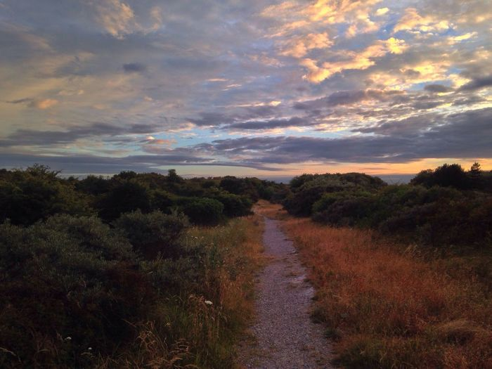 Sunset Dunes IJmuiden Clouds And Sky