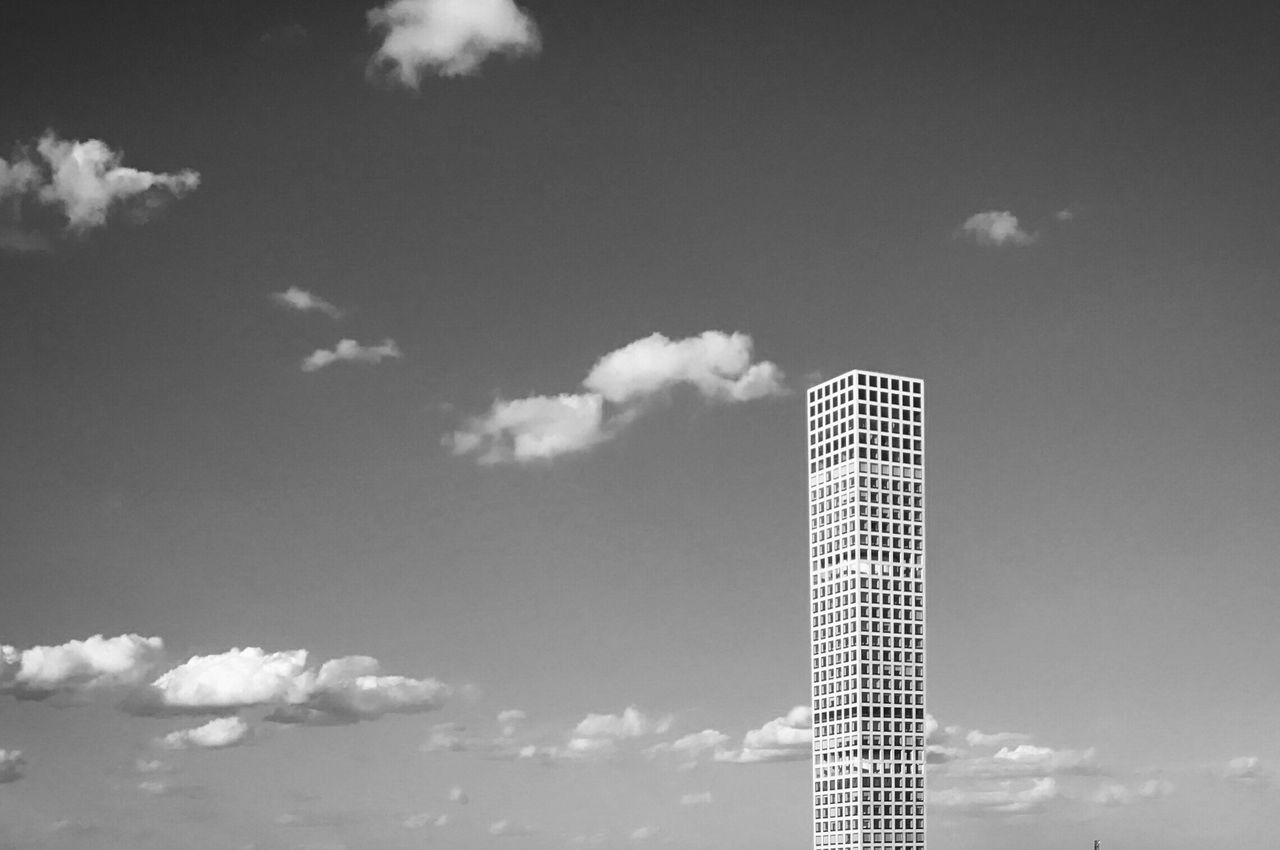 sky, cloud - sky, low angle view, architecture, built structure, day, skyscraper, modern, building exterior, no people, outdoors, city