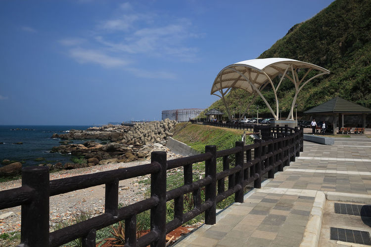 Water Sea Sky Architecture Horizon Over Water Railing Nature Horizon Built Structure Scenics - Nature Beauty In Nature Day Beach Incidental People Land Direction Footpath Plant The Way Forward Outdoors
