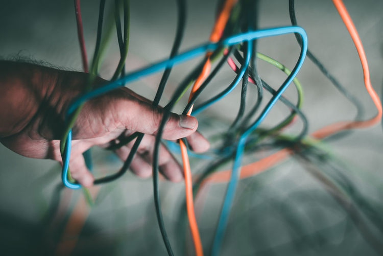 Construction Site Cable Close-up Complexity Electricity  Electricity  Holding Human Hand Indoors  Power Supply Selective Focus Skill  Tangled Technology Wires The Still Life Photographer - 2018 EyeEm Awards