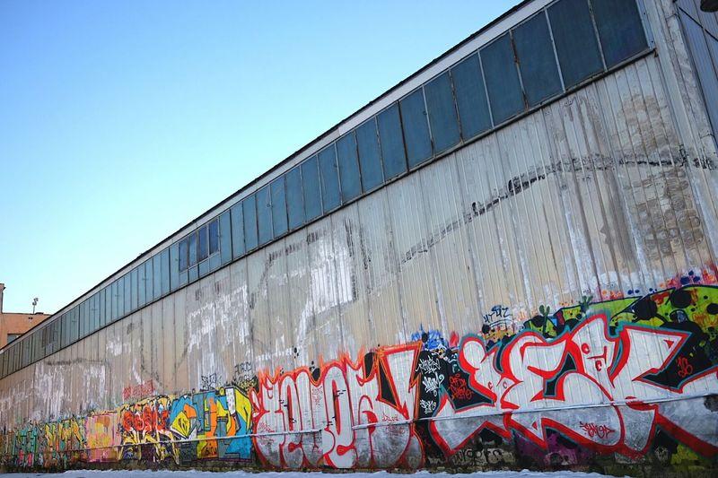 Граффити росписи. Colour Cold Temperature Day Building Exterior Streetart Graffiti Building Andrejsala Andrejosta Riga