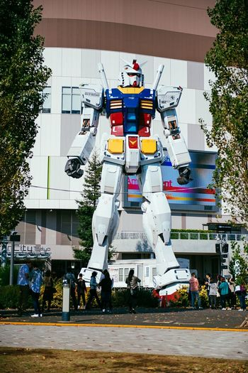 Life size RX-78-2 Gundam Tokyo Japan Hanging Out Hello World . Holy smokes.