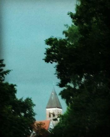 Thunderstorm Gewitter Rain Church Nature Hamburg