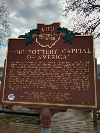 My Home Town Home Sweet Home Historical Marker East Liverpool Ohio Ohio State Pottery Passion Pottery Town History Through The Lens  History Lesson Historical City Portrait Of America