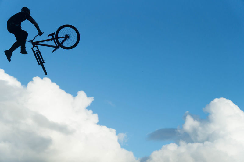 Crankworx Mountain Biking Slopestyle Sky Clouds Blue Stunt Outdoors Rotorua  Skyline 2017 Tailwhip Bike MTB Sport Air Airtime Jump First Eyeem Photo New Zealand