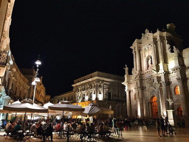 Heart of Siracusa Getting Inspired Night Architecture Ortigia Enjoying The View EyeEm Best Shots Sicily Great Atmosphere Historical Building Ortigia By Night Duomo - Ortigia