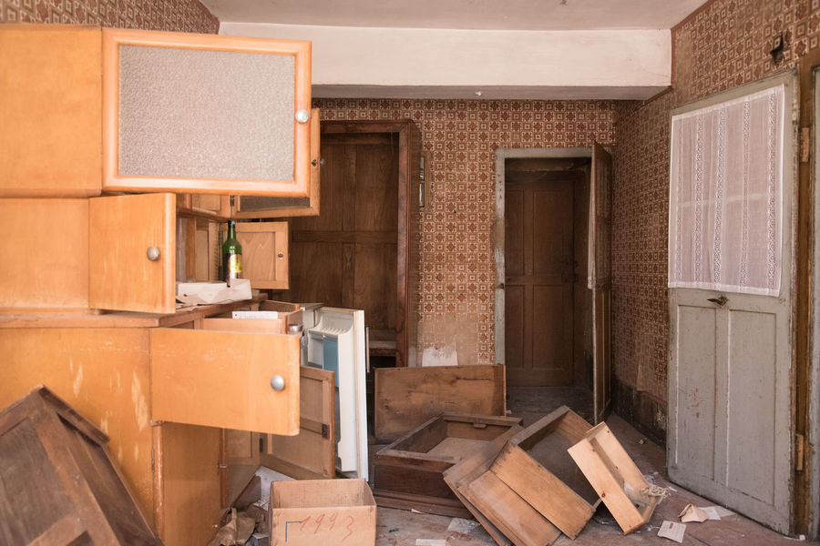 Abandoned Architecture Break-in Brown Burglary Cabinet Cardboard Box Day Domestic Room Home Home Improvement Home Interior Housebreaking Indoors  Kitchen Living Room Mess Moving House No People Smash  Urbex Wood - Material