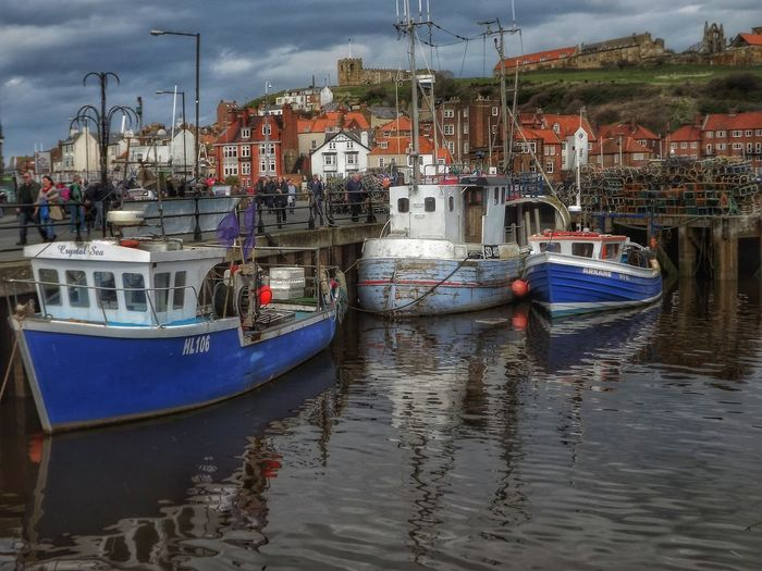 Taken at Whitby Harbour YorkshireHdr_Collection EyeEm Masterclass Fujifilm Eye For Photography See The World Through My Eyes Whitby Whitby View Whitby Harbour Whitby Town Fishing Boats Boats And Moorings Hdr_Collection Working Boat Harbour View HDR