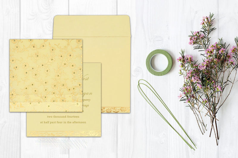 Give your wedding a special feel with our exclusive Ivory/Cream, Matt paper, Wooly, Floral Themed Wedding Cards. This stunning Wedding Cards has been aesthetically designed to fit just right in your whimsical wedding ceremony. Floral Invitations Floral Wedding Invitations Floral Cards Floral Wedding Cards Wedding Cards Wedding Invitation Cards Floral Themed Wedding Invitations Wedding Invitations