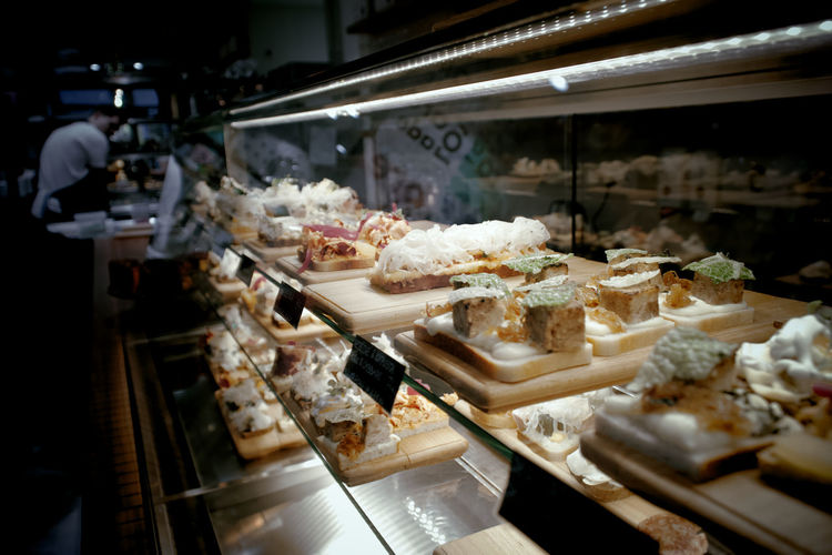 Close-up of sweet food for sale in store