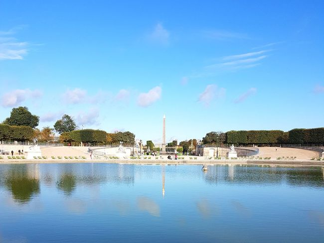 Water Tranquility Reflection Blue Day Landscape Sky No People Outdoors Clear Sky Beauty In Nature Paris, France  Paris City Reflection Scenic Scenic Landscapes Scenery Pond Blue Sky