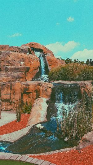 minigolf shots Outdoors Water Rocks Sky Environment Scenics No People Day Nature Beauty In Nature