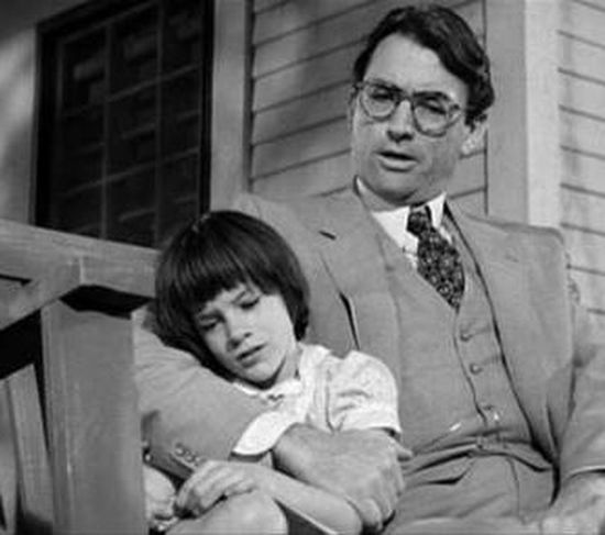 Scout & Atticus of To Kill A Mocking Bird