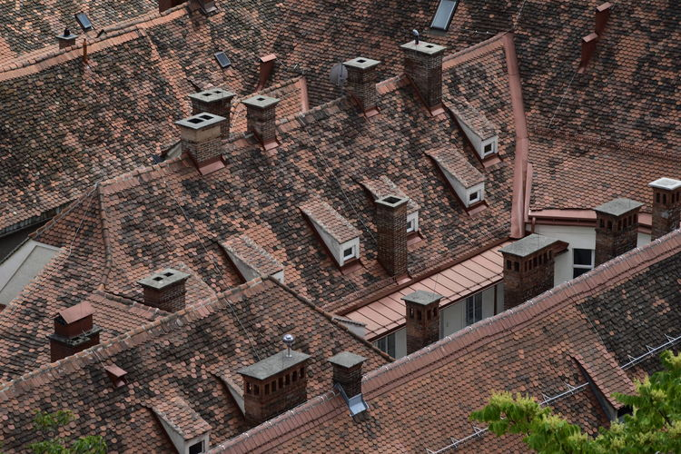 Architecture Arthitecture Brick Building Exterior Built Structure Chimnes City Day High Angle View No People Outdoors Roof Roof Tile The Architect - 2017 EyeEm Awards Tiled Roof  Urban