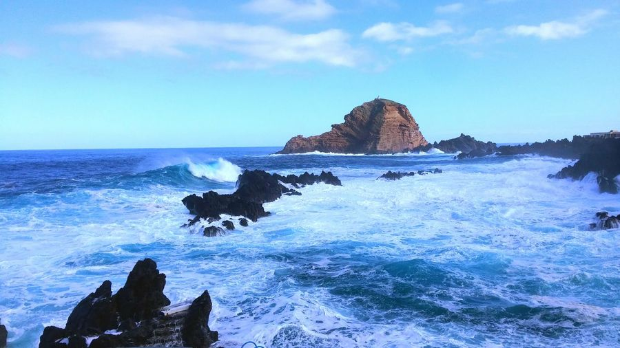 The Great Outdoors With Adobe Waves Ocean Rocks Rocks And Water Rocks And Sea Rocks And Sky Nature Naturelovers Nature Is Art LGG3 LGg3photography Madeira Madeiraisland Madeiradigital