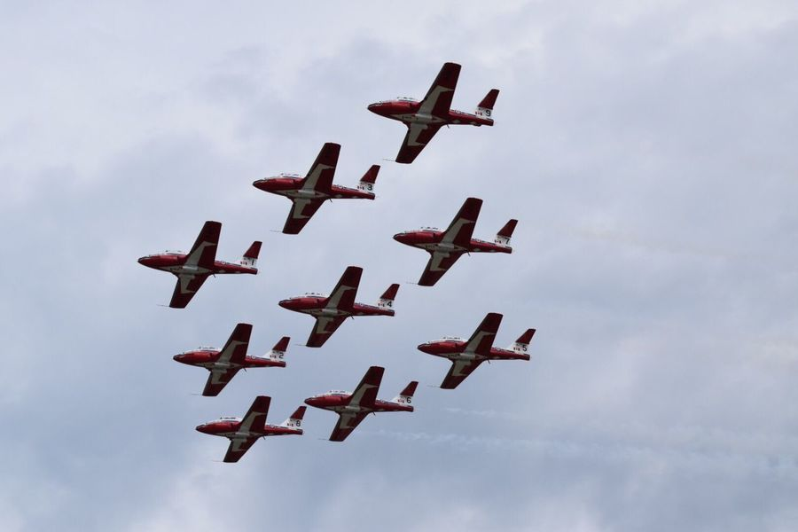 Canadian Snowbirds at Oshkosh 2016 Check This Out Warbirds Airshowphotography Aviation Flying Airventure2016 Airshow2016 Snowbirds