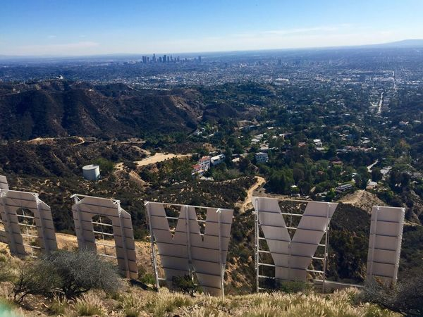 Hollywood sign and Downtown LA 2. Sunshine Hills View Taking Photos Enjoying Life Inspired Instagood Beautiful Cityscapes City Landscape Summer Sunshine ☀ Los Angeles, California Losangeles Hollywood Sign Hollywood Taking Photos