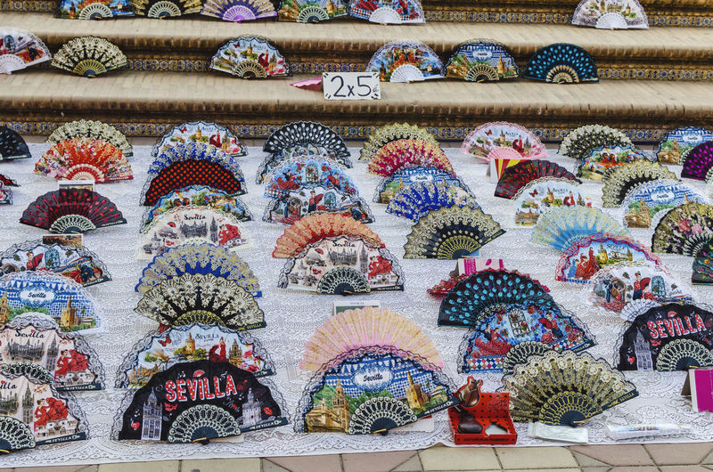 Full frame shot of multi colored for sale at market stall