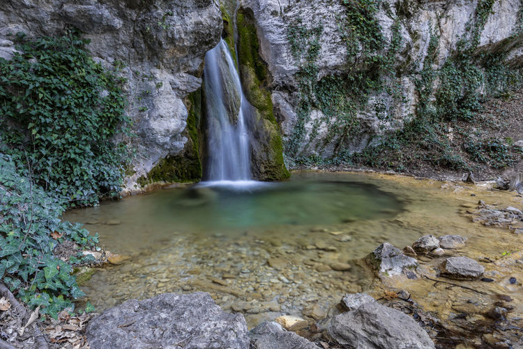 Rock Water Rock - Object Solid Scenics - Nature Waterfall Beauty In Nature Flowing Water Motion Nature No People Long Exposure Forest Land Non-urban Scene Environment Day Flowing Blurred Motion Outdoors Stream - Flowing Water Power In Nature Purity Crimea