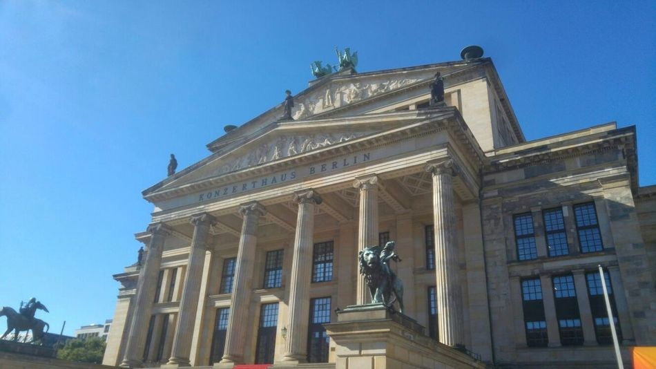 Konzerthaus Berlin Berlin Architecture Architectural Column Low Angle View City Built Structure Façade Building Exterior Statue No People
