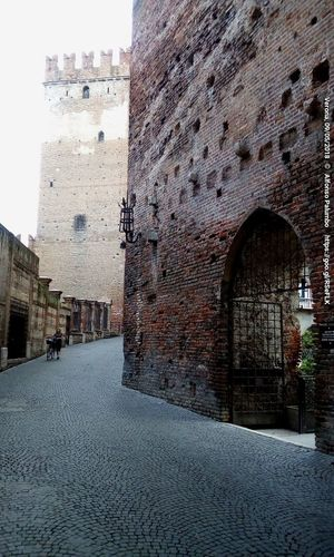 Castelvecchio Italy Verona Streetphotography Street People Castelvecchio Verona Wall City History Architecture Building Exterior Built Structure Sky Castle Historic Fortified Wall Fortress Passageway Old Ruin Fort