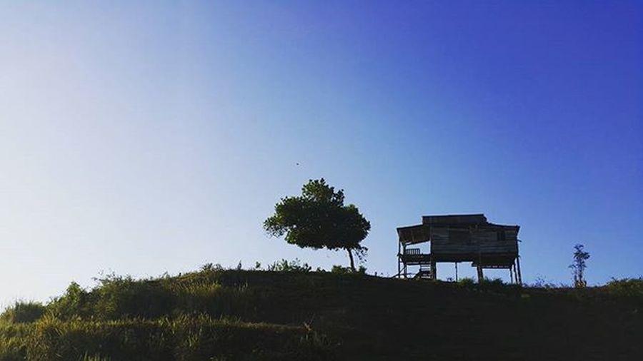 Hasil sepedaan pagi... Nunukan Sepedaan Kaltara Nunukankaltara Rumahpanggung Rumahpanggungnunukan Alone Sendirian Puncakgunung Puncak