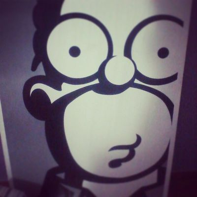 Homero The Simpsons Me lo encontre en la calle :3