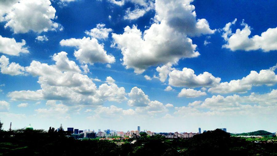 Cloud - Sky Sky Day Outdoors Nature No People Tree Beauty In Nature City Putrajaya, Malaysia