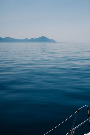 Adriatic sea Adriatic Sea Beauty In Nature Blue Boatlife Calm Water Clear Sky EyeEm Nature Lover Mediterranean  Mountain Nature Nautical Vessel No People Ocean Outdoors Sailboat Sailing Saltwater Scenics Sea Summer Views TeamCanon Tranquil Scene Tranquility Water Waterfront