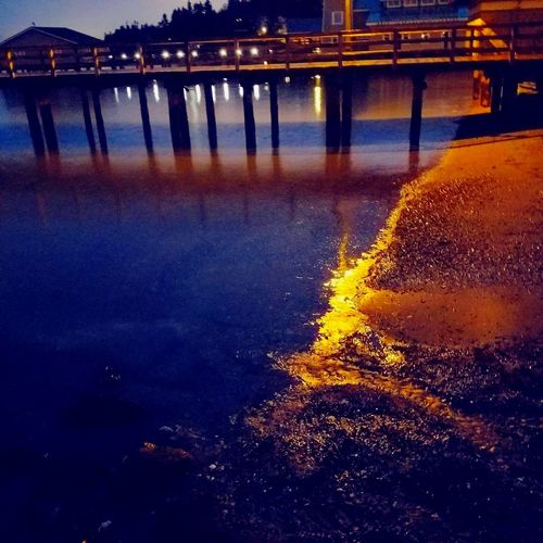 Water Bridge - Man Made Structure Built Structure Engineering Yellow Sunset Connection Nature River Outdoors Architecture Illuminated No People Beauty In Nature Day Close-up Travel Destinations Washington State Seattle, Washington Puget Sound, Washington Veiwpoint Of A Homeless Seattle Girl Beach Tranquility Sea Idyllic