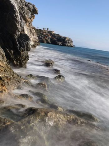 Sea Seascape Landscape Long Exposure Ulaş Alanya Sea Nature Wave Rock - Object Beach Beauty In Nature No People Horizon Over Water Clear Sky Water Outdoors Day Scenics Sky
