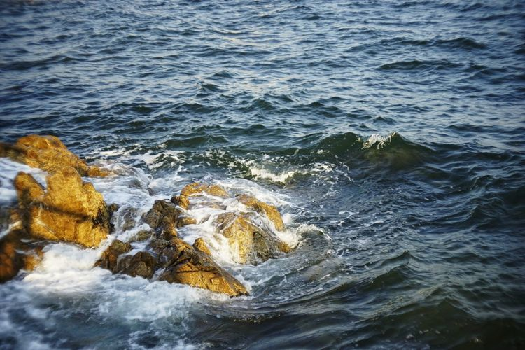 Aquatic Sport Beauty In Nature Breaking Day Flowing Water Land Marine Motion Nature No People Outdoors Power In Nature Rock Rock - Object Scenics - Nature Sea Solid Splashing Sport Water Waterfront Wave