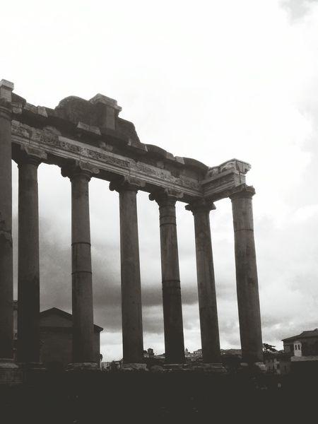 Ruins of Ancient Rome Ancient Ruins Rome Blackandwhite Pagan