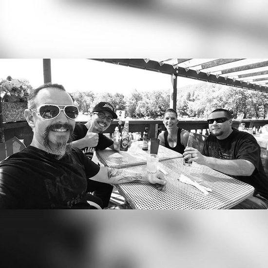 The start of something dangerous! Good friends. Good times. They trekked to Yucaipa from Santa Clarita just to say hello. I love you guys @rturner75 @stefturner72 and Andre. Goodfriends GoodTimes Drinks OakTreeVillage Oakglen AppleAnnies Yucaipa HCII